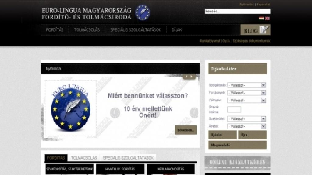 Honlapfelújítás, átalakítás - [euro-lingua.hu]