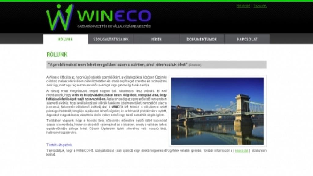 Webgrafika készítés, honlap arculattervezés - [wineco]