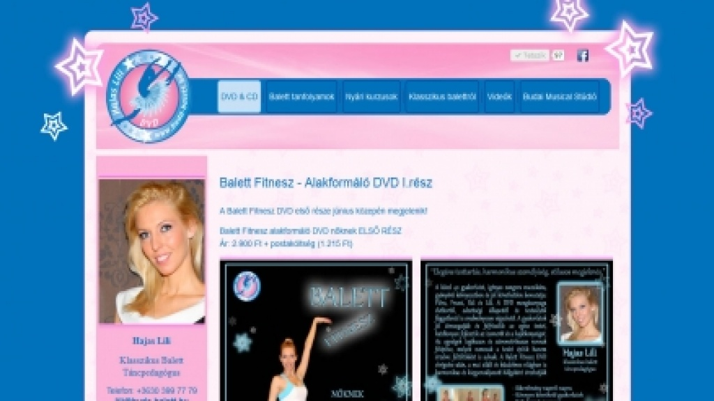 Joomla honlap felújítása, honlap átalakítás - [balerina-leszek.hu]