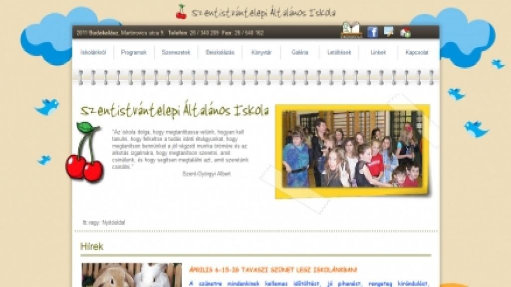 Honlapfelújítás, honlap átalakítás - [szentistvantelepi-iskola.hu]