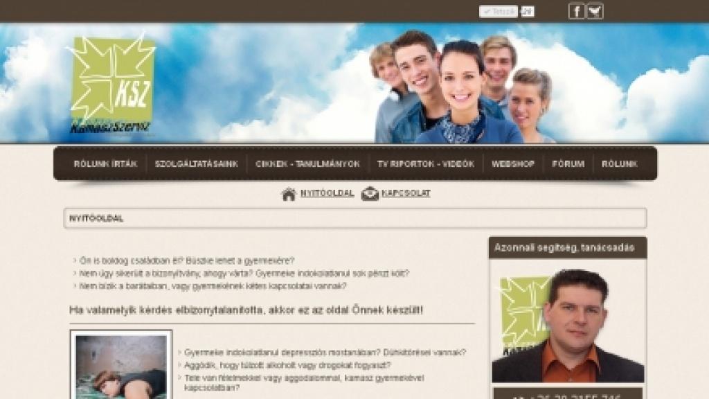 Joomla sablon készítés, honlap arculattervezés - [kamaszszerviz]