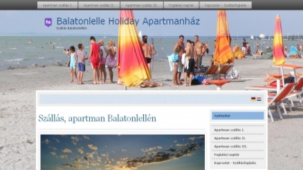 Joomla honlapkészítés - [balatonlelle-holiday.com]
