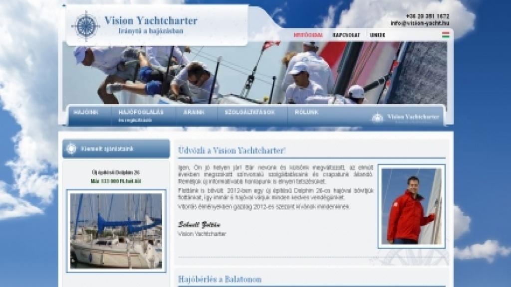 Egyedi Joomla sablon készítés, honlap arculattervezés - [vision-yacht]